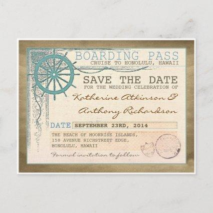 nautical  boarding pass Cards