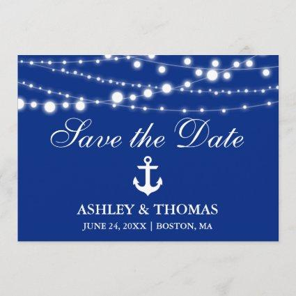 Nautical Wedding Anchor Lights Save the Date
