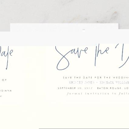 Navy Modern Save the Date Announcement