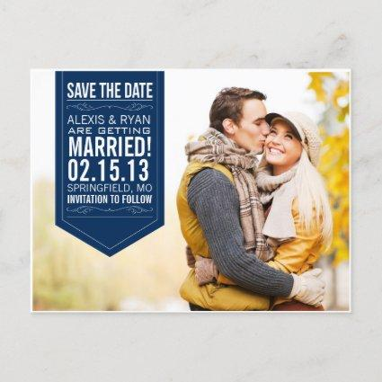 Navy Save The Date Announcements Cards