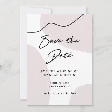 Neutral Abstract Watercolor | Photo Back Save The Date