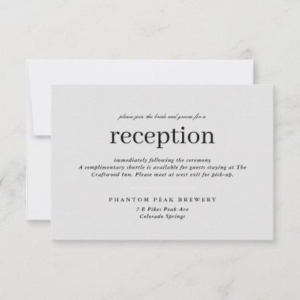 Neutral Simple Type Wedding Reception Save The Date