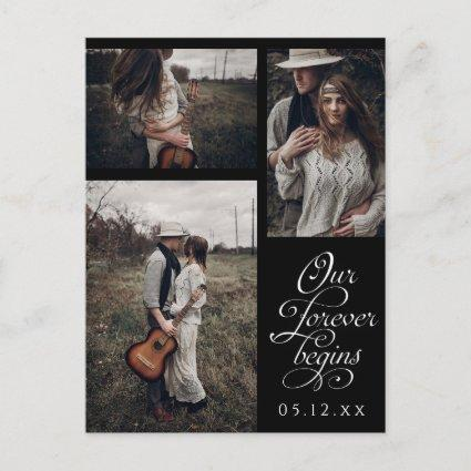 New Beginnings Multi Photo Save the Date Announcement
