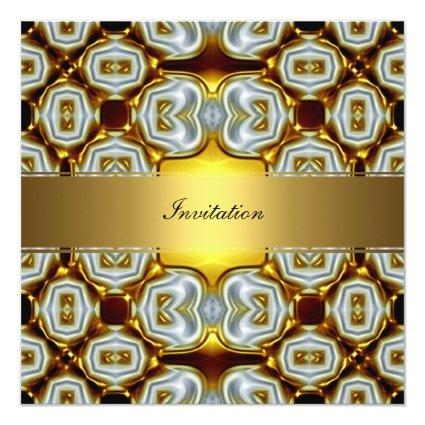 New Gold Popular Birthday Invitation