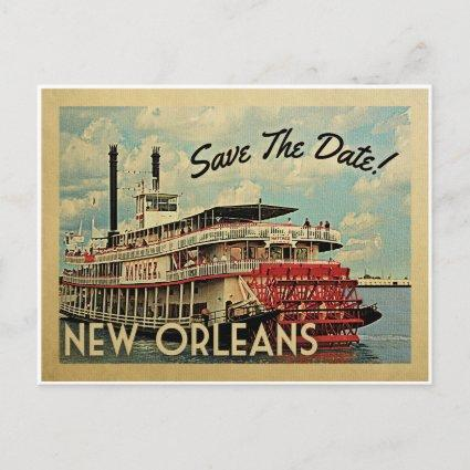 New Orleans Save The Date Vintage s