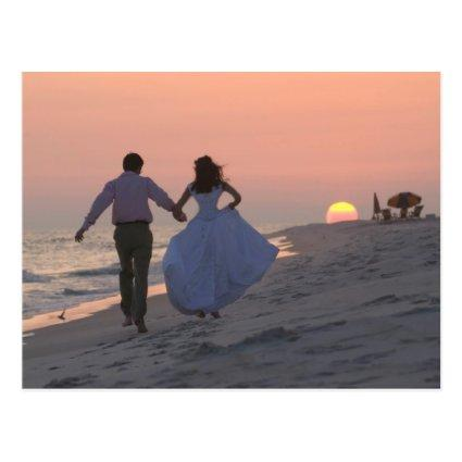 Newlyweds Running into the Sunset, the Future