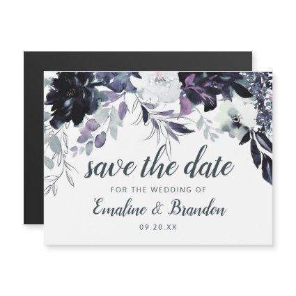 Nocturnal Floral Watercolor Chic Save the Date