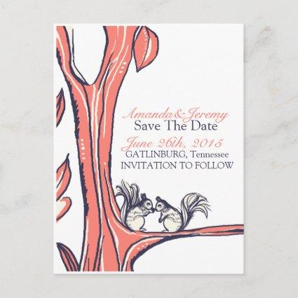 Nuts About You Squirrels Save The Date Announcement