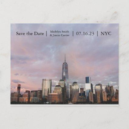 NYC Freedom Tower Photo - Save the Date Post Card