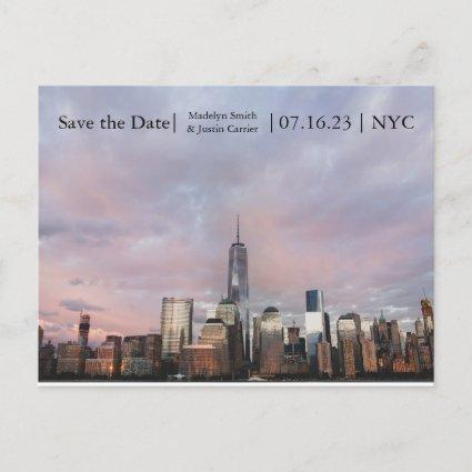 NYC Freedom Tower Photo - Save the Date Post Cards