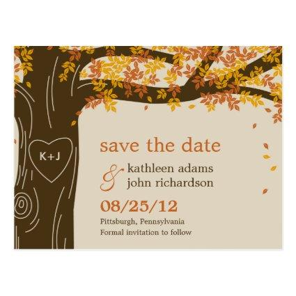 Oak Tree Fall Wedding