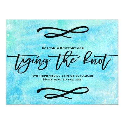 Ocean Watercolor Tying The Knot Save The Date Magnetic Invitation