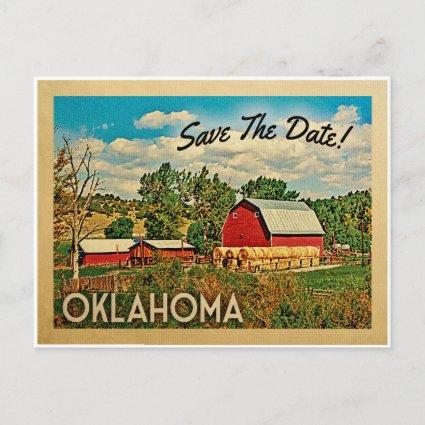 Oklahoma Save The Date Farm Barn Rustic Announcement
