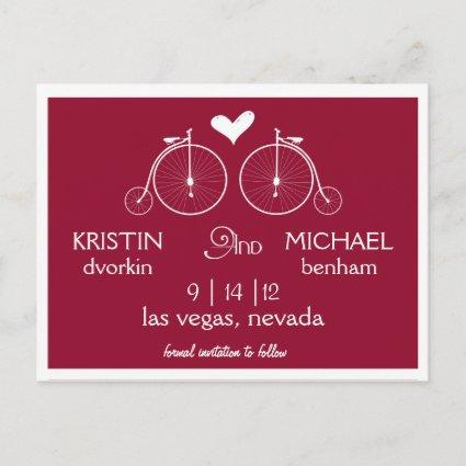 Old Fashion Bicycles | Save the Date Announcements Cards