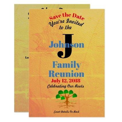 Old World Map Family Reunion - Any Name & Date - Cards