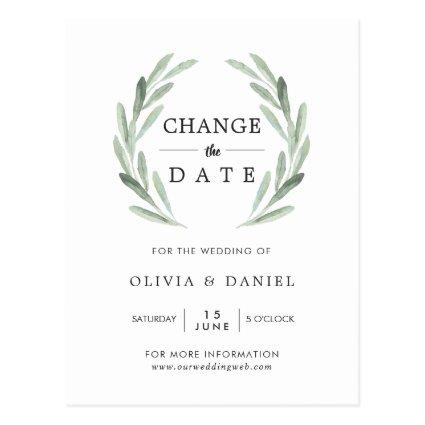 Olive Branch Wreath Wedding Change the Date