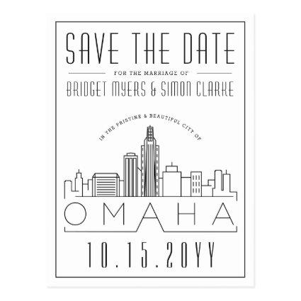 Omaha Wedding | Stylized Skyline