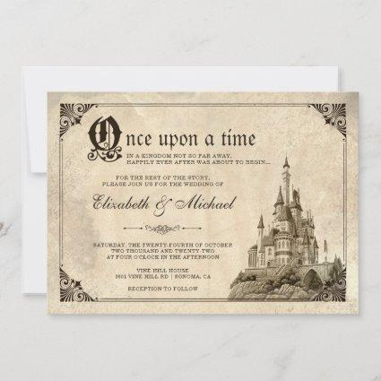 Once Upon a Time Fairy Tale Castle Wedding Invite