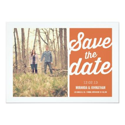 Orange Chic Photo Save The Date Announcements