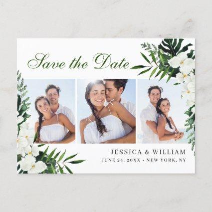 Orchid Bohemian Floral Wedding Save The Date PHOTO