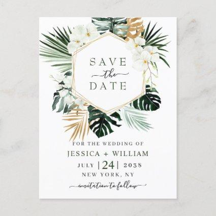 Orchid Bohemian Greenery Wedding  Save The Date