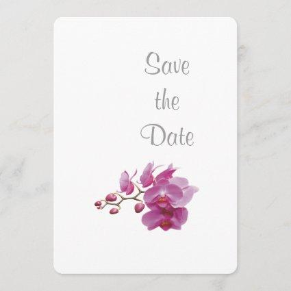 Orchid Wedding Day Theme Save the Date