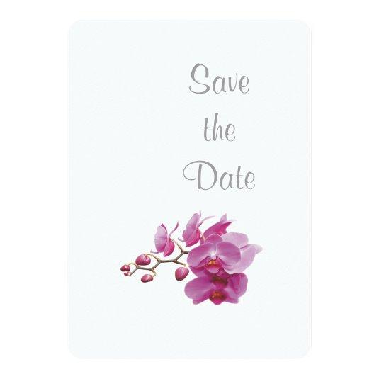 Orchid Wedding Day Theme Save the Date Card