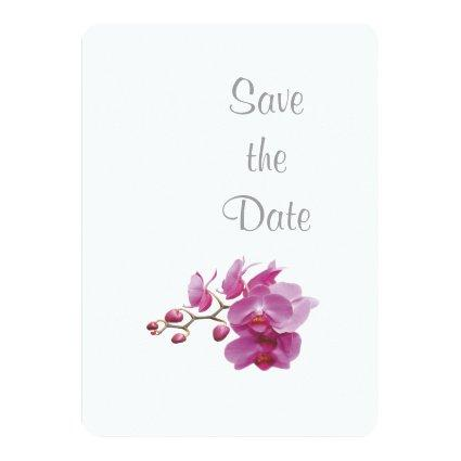 Orchid Wedding Day Theme  Invitation