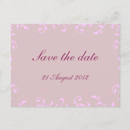 Ornate Swirls Off-White Translucent Save the Date Announcements Cards