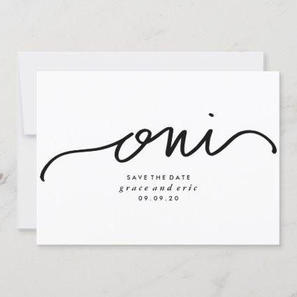 Oui | French Save the Date Custom Color Card