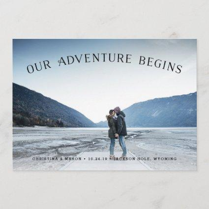 Our Adventure Begins | Photo Save the Date