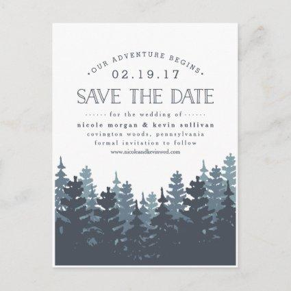 Our Adventure Begins   Save the Date Announcements Cards