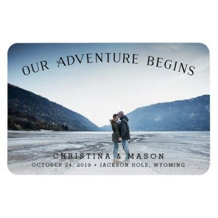 Our Adventure Begins | Save the Date Magnet