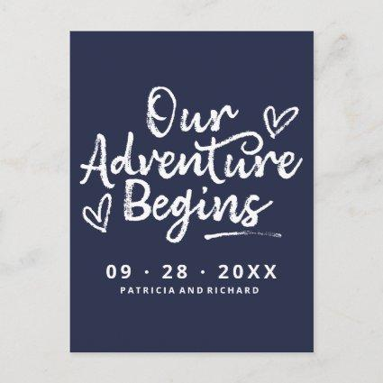 Our Adventure Begins Save The Date Non Photo