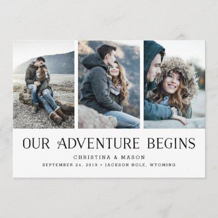Our Adventure Begins | Three Photo Save the Date