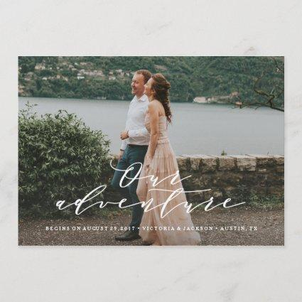 Our Adventure Save the Date Photo Announcements