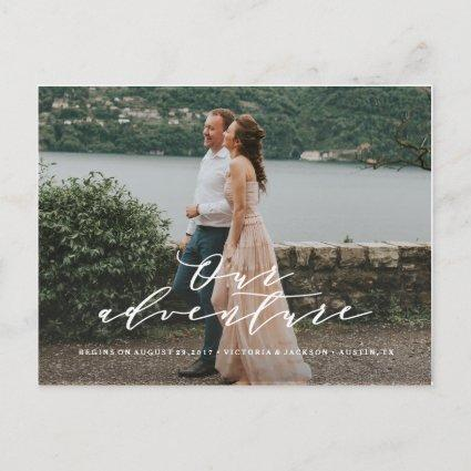 Our Adventure Save the Date Photo Cards