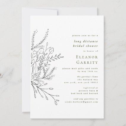 Overflowing Bouquet Long Distance Bridal Shower Save The Date