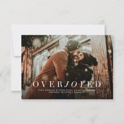 Overjoyed holiday save the date photo card