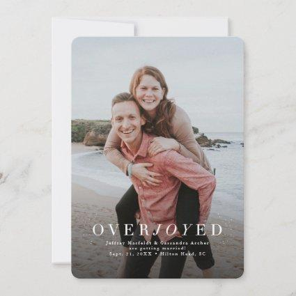 Overjoyed vertical photo holiday save the date