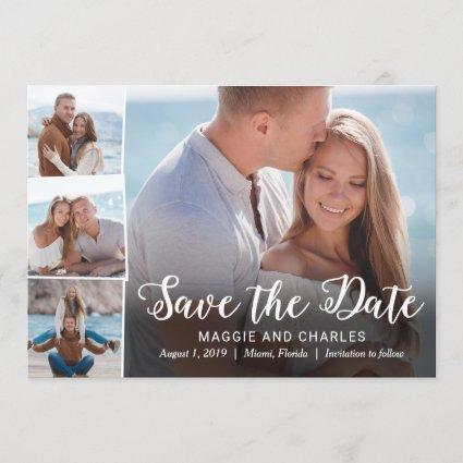 Overlapped Photos Save The Date Cards