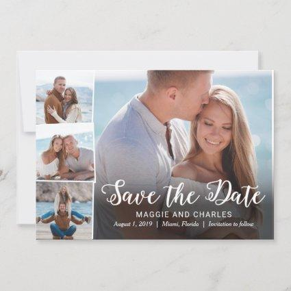 Overlapped Photos Save The Date Card
