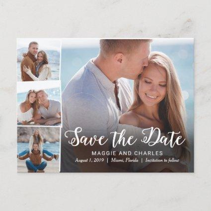 Overlapped Photos Wedding Save The Date Cards