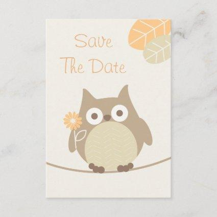 Owl Baby Shower Save The Date Neutral Gender