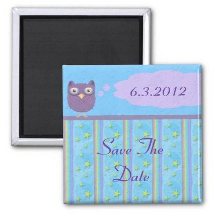 Owl Star Birthday Celebration Magnet
