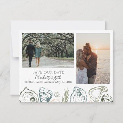 Oyster Save the Dates with Photographs Save The Date