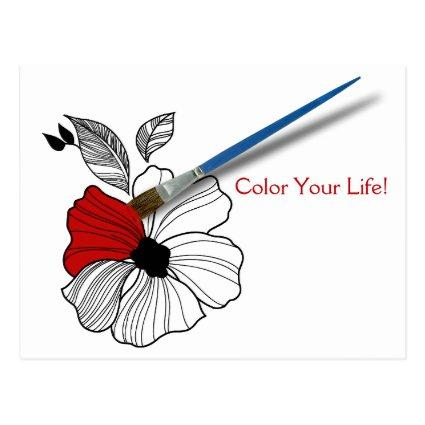Paint a Flower Red to Add Color for
