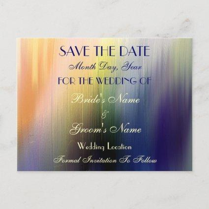 Painted Rainbow Save the Date Wedding