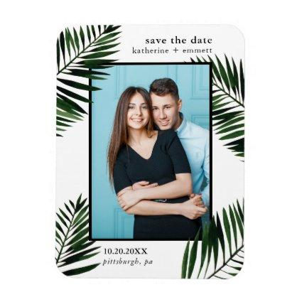 Palm Leaves Save the Date Wedding Magnets