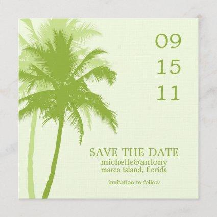 Palm Trees Wedding Save the Date